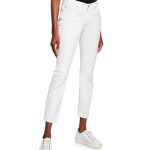 Eileen Fisher organic cotton white skinny jeans